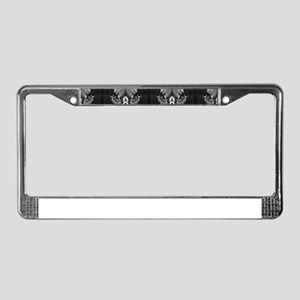 vintage smoking femme fatale 2 License Plate Frame