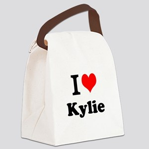 I Love Kylie Canvas Lunch Bag