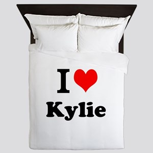 I Love Kylie Queen Duvet