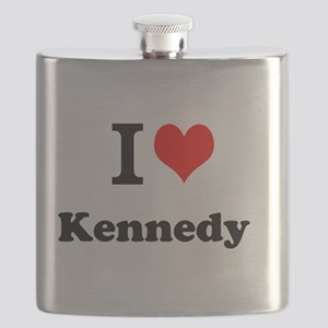 I Love Kennedy Flask