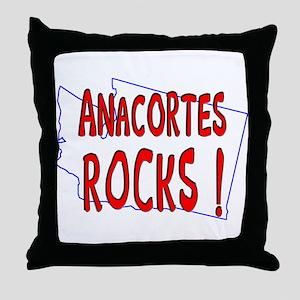 Anacortes Rocks ! Throw Pillow