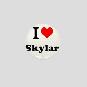 I Love Skylar Mini Button