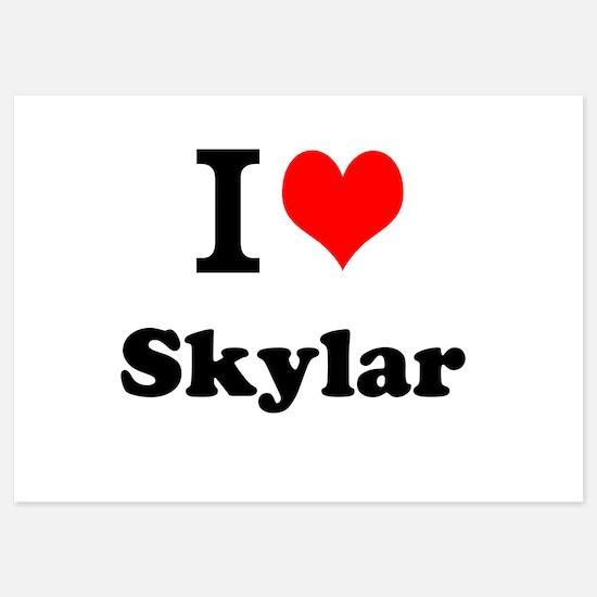 I Love Skylar Invitations
