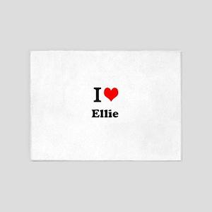 I Love Ellie 5'x7'Area Rug