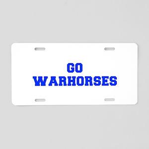 Warhorses-Fre blue Aluminum License Plate