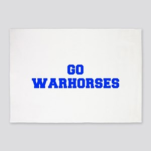 Warhorses-Fre blue 5'x7'Area Rug