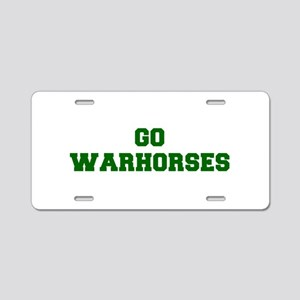 Warhorses-Fre dgreen Aluminum License Plate