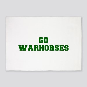 Warhorses-Fre dgreen 5'x7'Area Rug