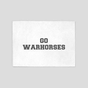 WARHORSES-Fre gray 5'x7'Area Rug
