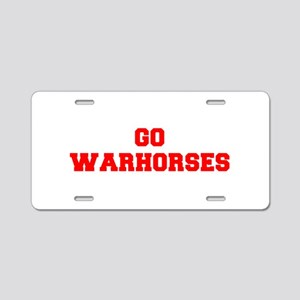 WARHORSES-Fre red Aluminum License Plate