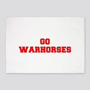 WARHORSES-Fre red 5'x7'Area Rug