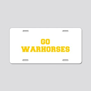 Warhorses-Fre yellow gold Aluminum License Plate