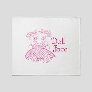 Doll Face Throw Blanket