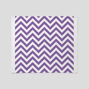 Amethyst Chevrons Pattern Design Throw Blanket