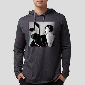 music! Music note! art deco! Long Sleeve T-Shirt