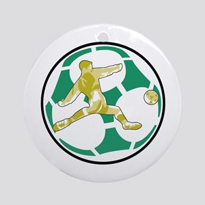 Round Soccer Emblem Ornament (Round)
