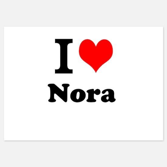 I Love Nora Invitations