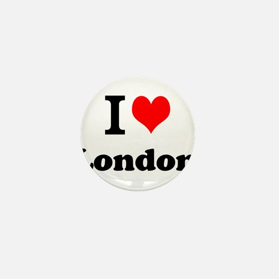 I Love London Mini Button