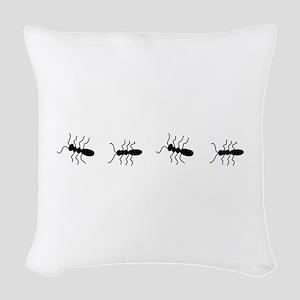 ANTS Woven Throw Pillow