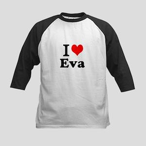 I Love Eva Baseball Jersey