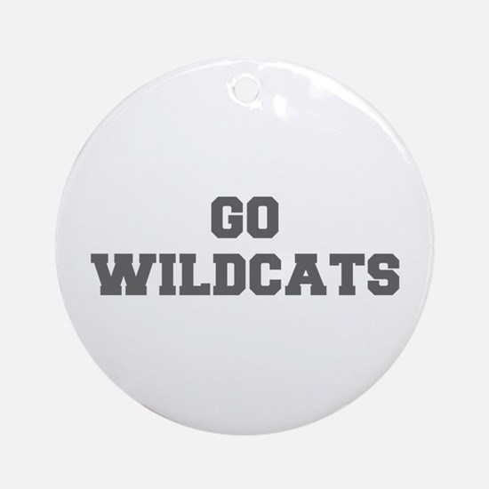 WILDCATS-Fre gray Ornament (Round)