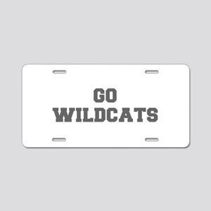 WILDCATS-Fre gray Aluminum License Plate