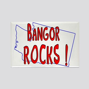 Bangor Rocks ! Rectangle Magnet