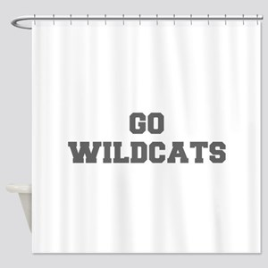 WILDCATS-Fre gray Shower Curtain