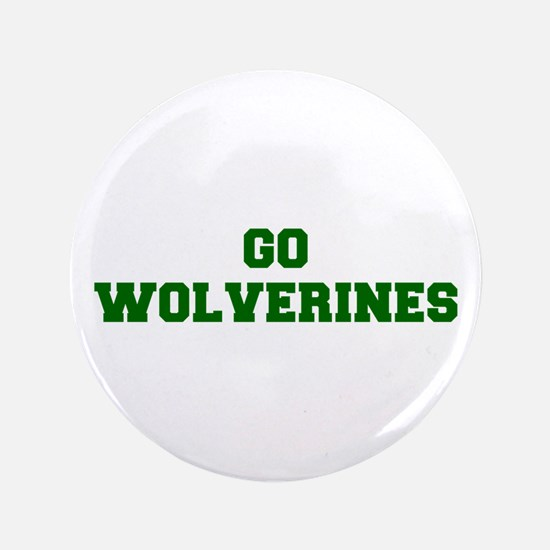 "Wolverines-Fre dgreen 3.5"" Button"