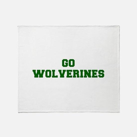 Wolverines-Fre dgreen Throw Blanket