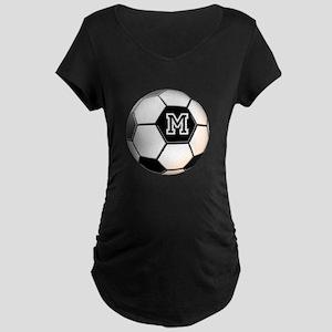 Soccer Ball Monogram Maternity T-Shirt