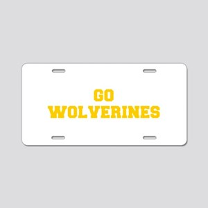 Wolverines-Fre yellow gold Aluminum License Plate