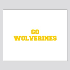Wolverines-Fre yellow gold Posters