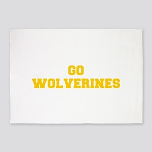 Wolverines-Fre yellow gold 5'x7'Area Rug