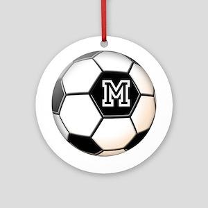 Soccer Ball Monogram Ornament (Round)