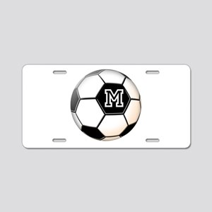 Soccer Ball Monogram Aluminum License Plate