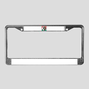 Italian Soccer Ball Design License Plate Frame