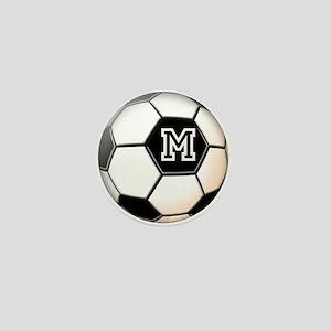 Soccer Ball Monogram Mini Button