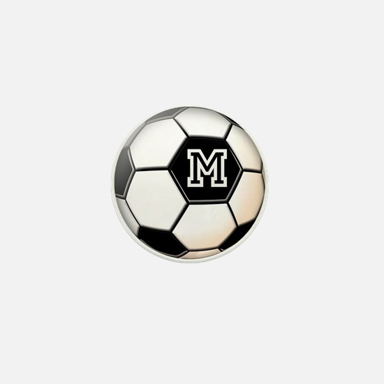 Soccer Ball Monogram Mini Button