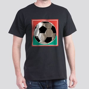 Italian Soccer Ball Design Dark T-Shirt