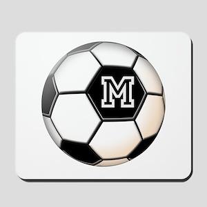 Soccer Ball Monogram Mousepad