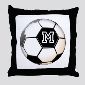 Soccer Ball Monogram Throw Pillow