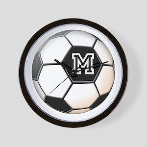 Soccer Ball Monogram Wall Clock