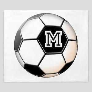 Soccer Ball Monogram King Duvet