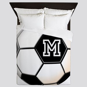 Soccer Ball Monogram Queen Duvet