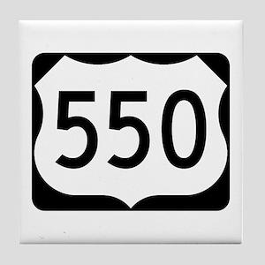 US Route 550 Tile Coaster