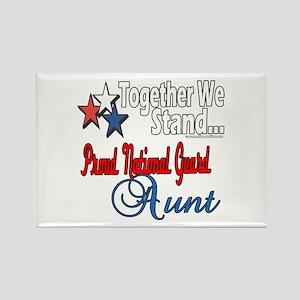 National Guard Aunt Rectangle Magnet
