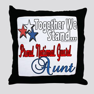 National Guard Aunt Throw Pillow