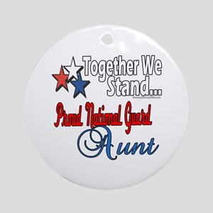 National Guard Aunt Ornament (Round)