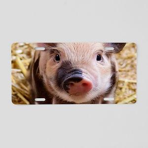 sweet piglet Aluminum License Plate
